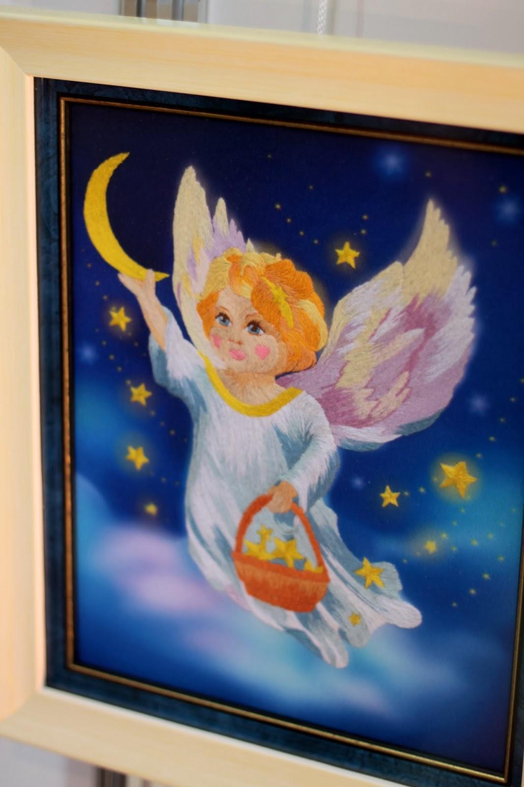 схема вышивки ангел-мужчина