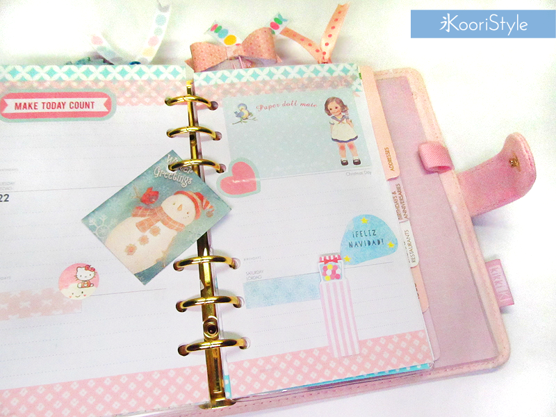Tutorial, DIY, Handmade, Crafts, Kawaii, Cute, Paper, Koori Style, Koori Style, Koori, Style, Planner, Planning, Stationery, Deco, Decoration, Kikki K, Filofax, Washi, Deco, Tape, Journal, Agenda, Stickers, Plan With Me, Set Up, Sticky Note, 和紙テープ, プランナー, 플래너