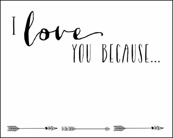 Adaptable image in i love you because printable