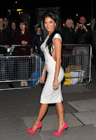 Nicole Scherzinger looking hot in a tight white dress