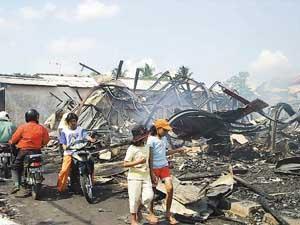 Kebakaran Pasar Karangjati Kabupaten Semarang 2004
