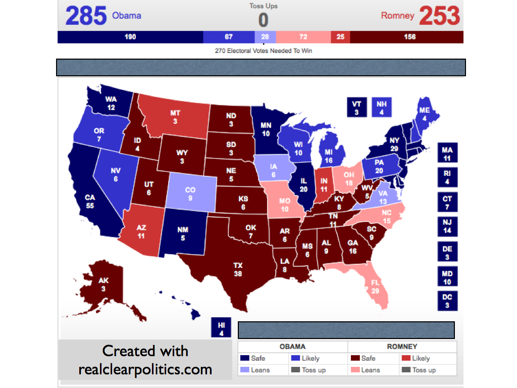 electoral map update ohio shifts to romney days until the election 144