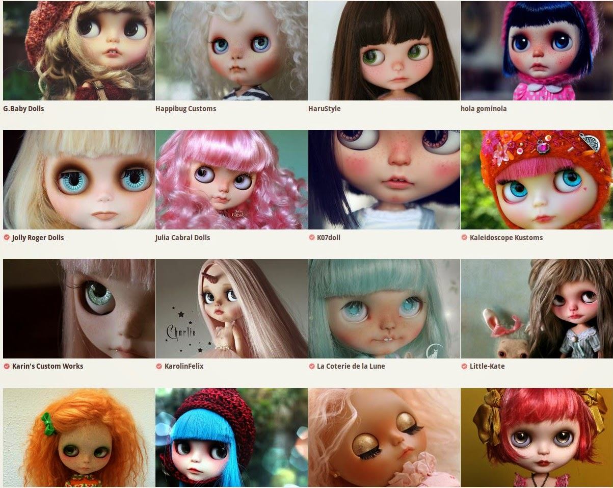 Blythe customizers list
