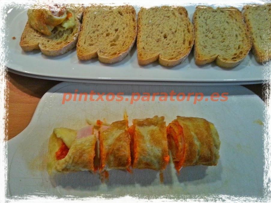 tapas de tortilla francesa