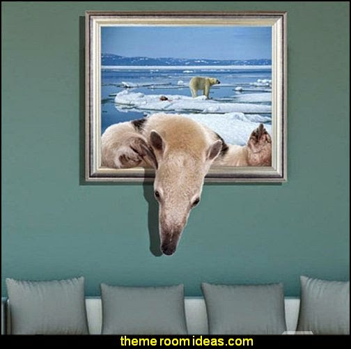 3D Polar Bear Design Wall Sticker