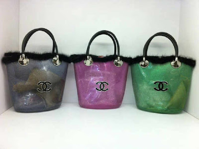 Tas Chanel Jelly Tabung Black-Pink-Green