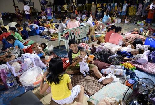 typhoon Lando evacuees