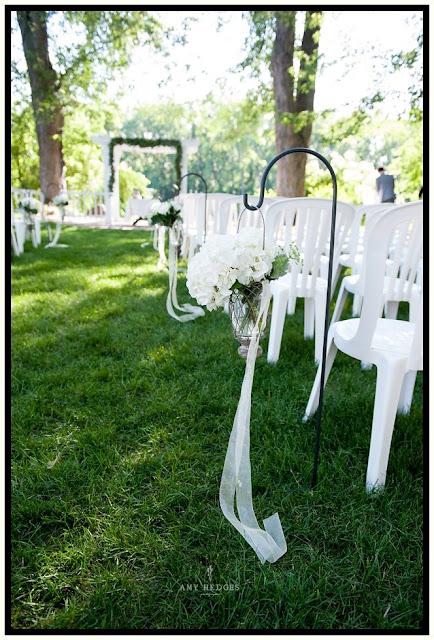 Ceremony Decor - River Stone Manor - Scotia NY - Schenectady - Wedding Flowers - Splendid Stems Floral Designs