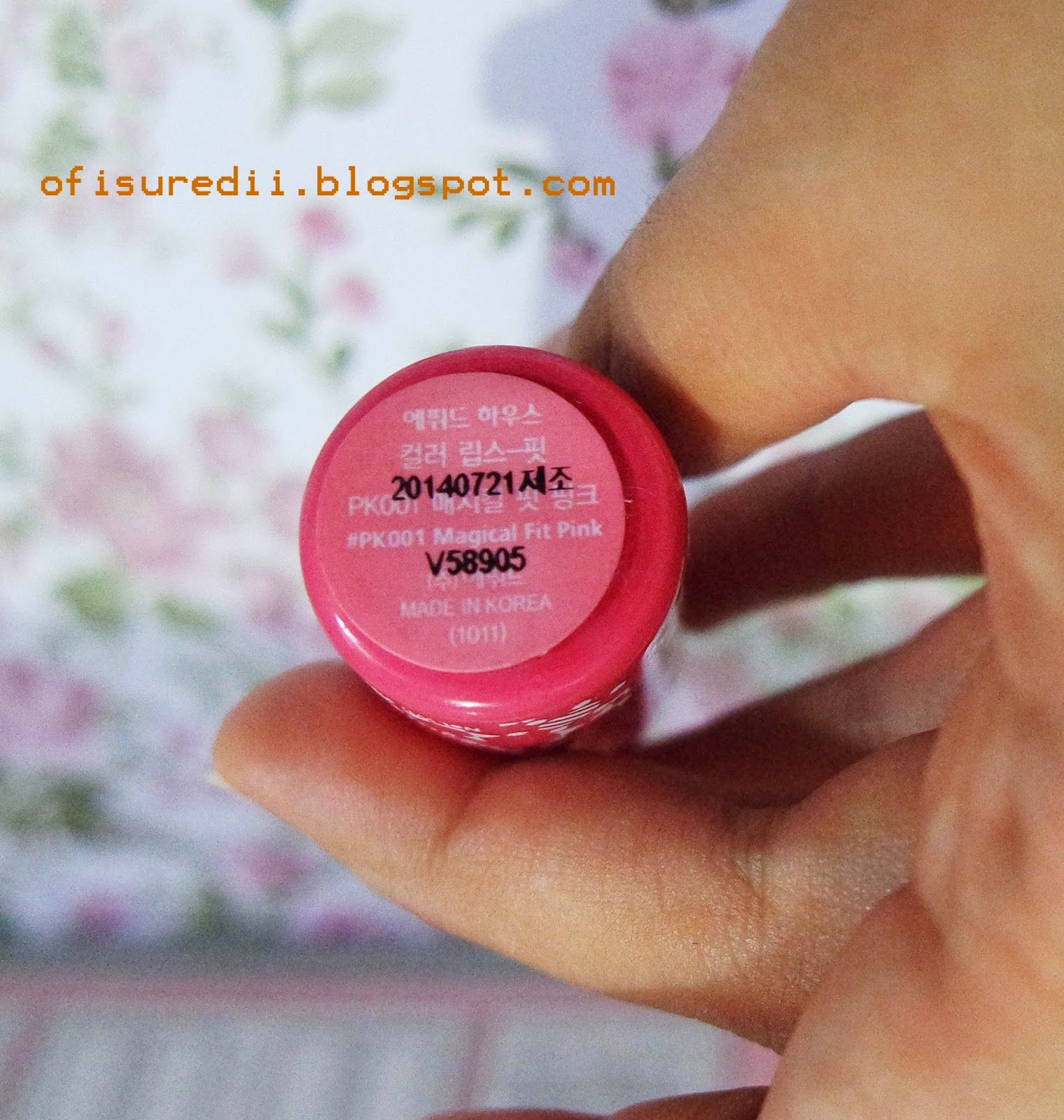 Etude House Color Lips Fit (PK001) Review - ofisu redii