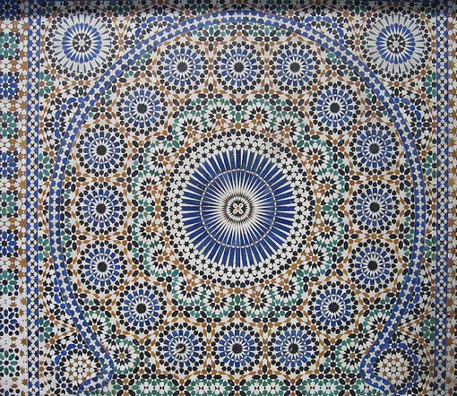 Zellige mosaic tiles in Mekhnes