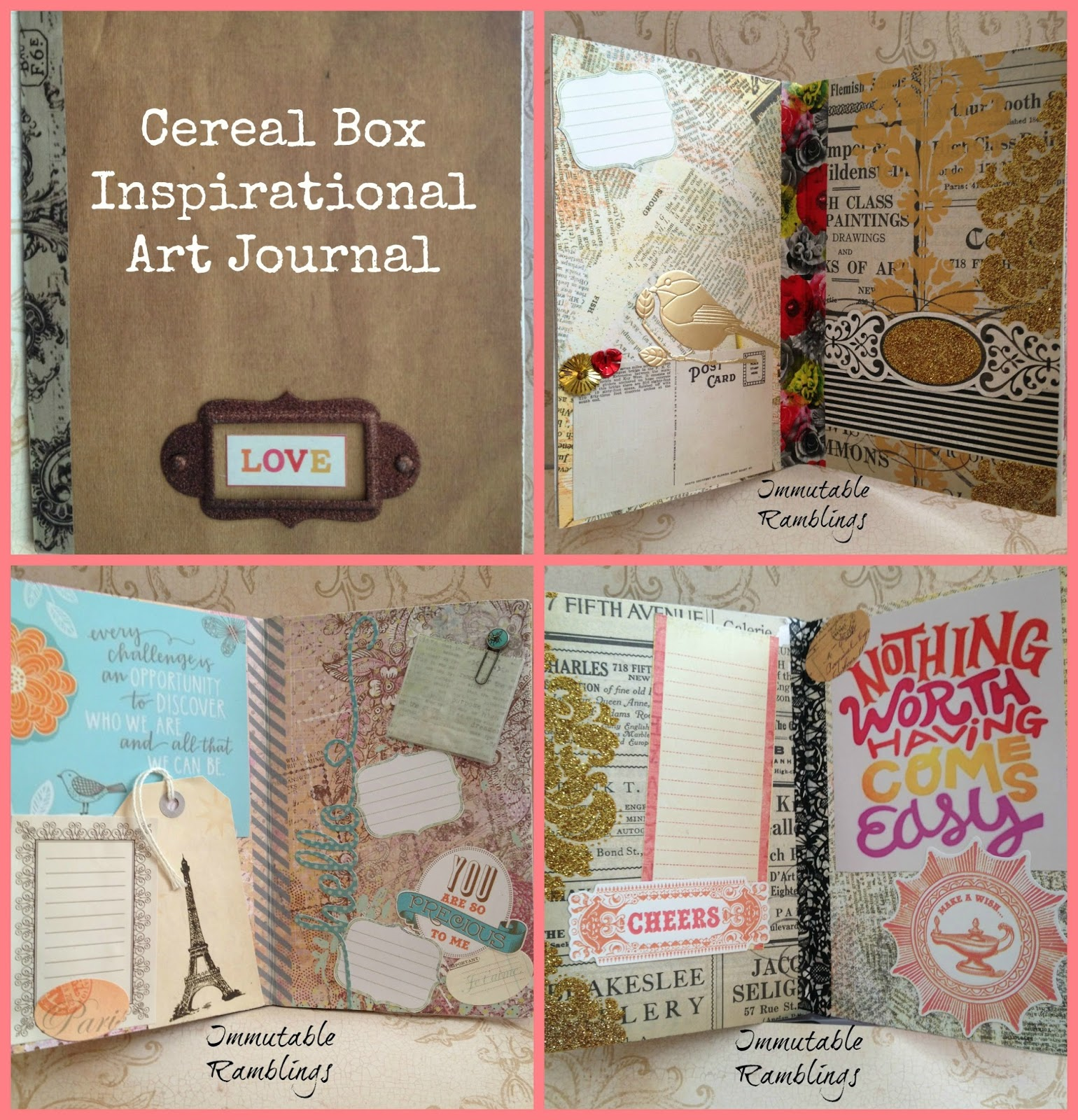 Cereal box inspirational art journal tbccrafters immutable cereal box inspirational art journal tbccrafters ccuart