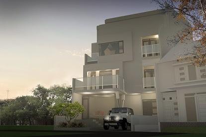 Jasa Gambar Pembuatan Desain Fasad Villa Modern Eksotik dengan harga desain cuma 450 ribu