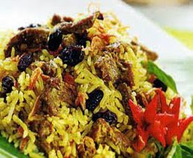 Resep Praktis (mudah) memasak nasi kebuli kambing khas timur tengah enak, lezat