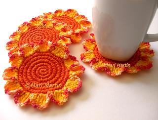 Crochet Coasters Autumn