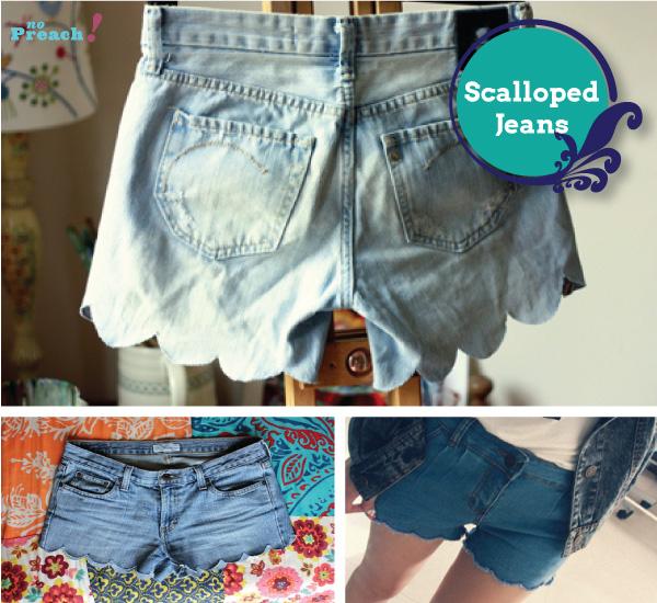 scalloped - shorts jeans diy - do it yourself - faça você mesmo