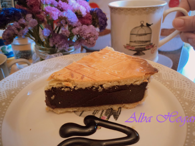 pastel vasco de chocolate alba hogar