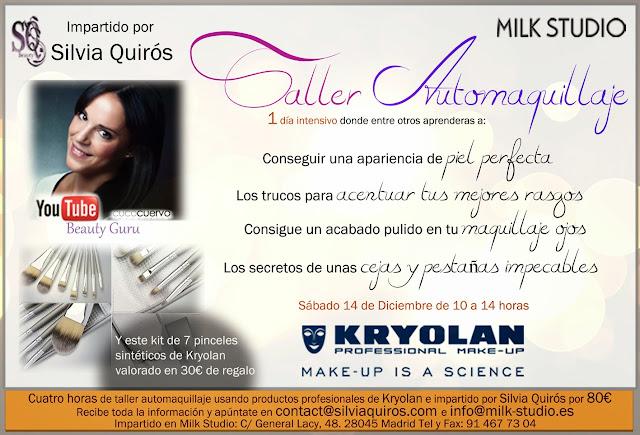 Mis talleres de automaquillaje con Kryolan Silvia Quiros