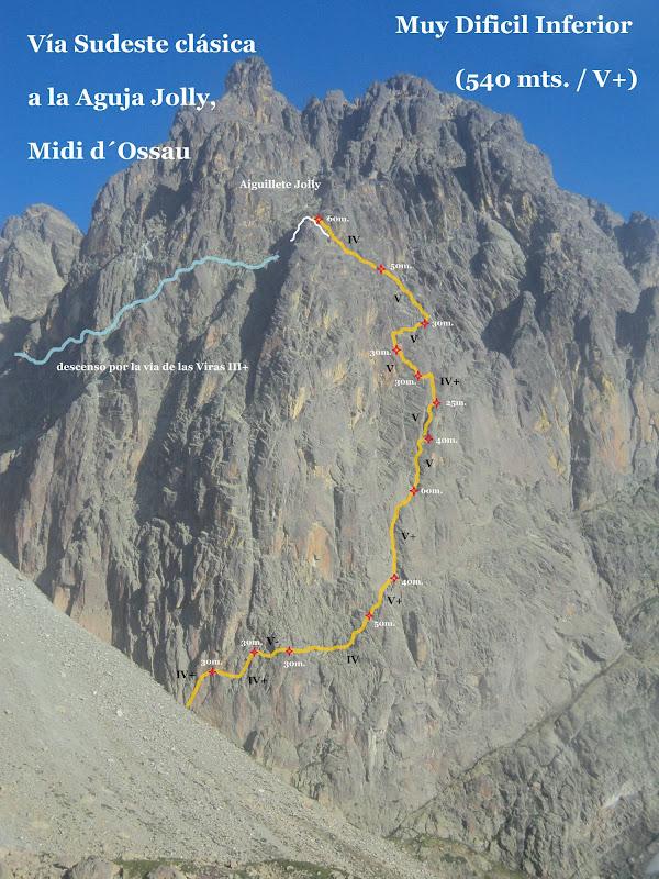 pelegrinajes: Midi d´Ossau, Sudeste Clásica (MD inf. 540 mts. / V+)