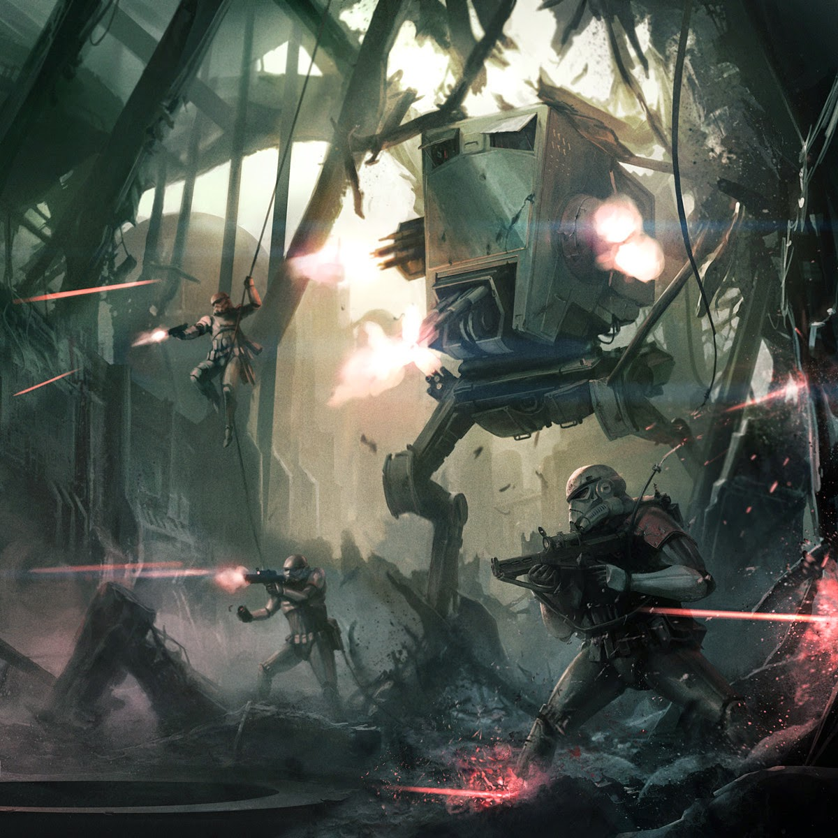Imperial forces during combat