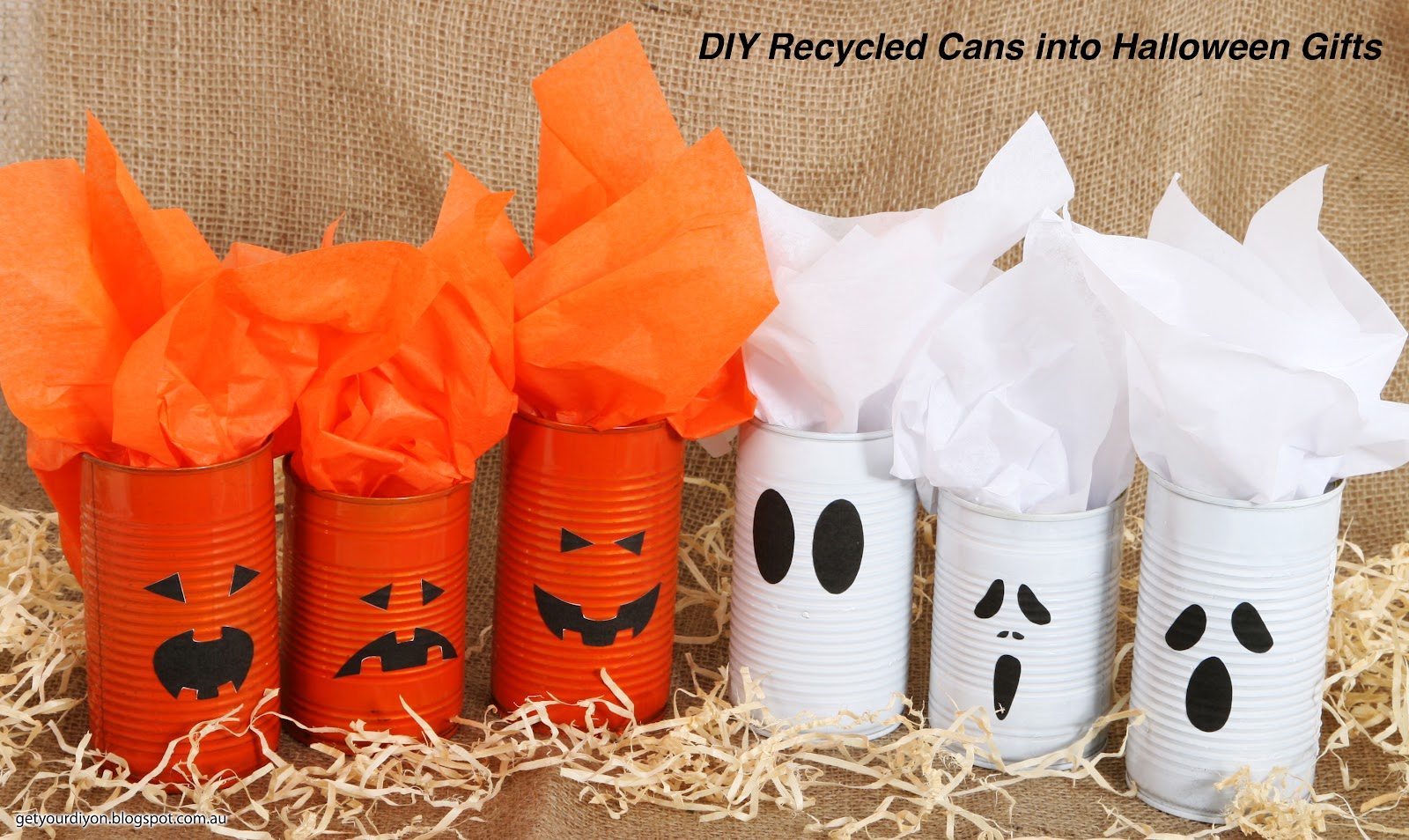 Get Your D.I.Y On!!: D.I.Y - Recycle cans into Halloween Gifts
