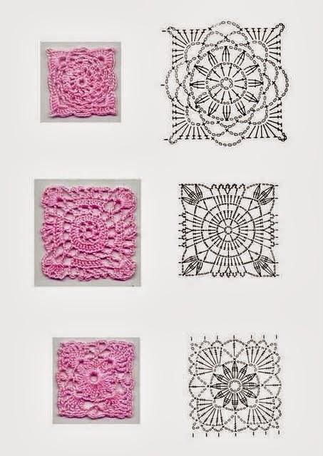 Uncinetto e crochet raccolta schemi uncinetto piastrelle e rosoni - Schemi piastrelle uncinetto ...