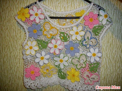 Blusa a Crochet Ruso
