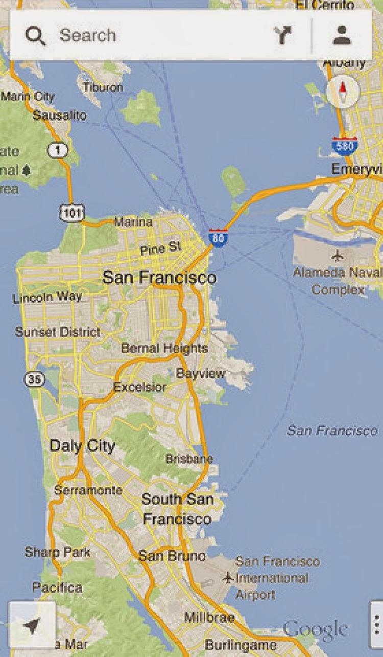 صورة من برنامج Google Maps