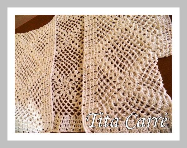 Mais um Bolero branco em crochet