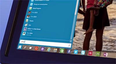 search menu windows 10