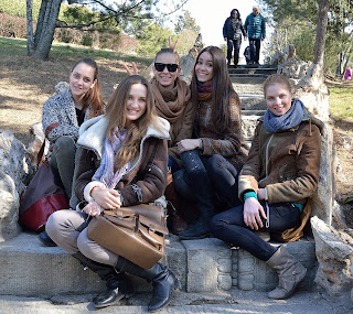 Young women in Ritan Park