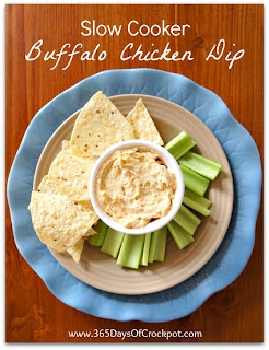 Recipe for Buffalo Chicken Dip in the Crock Pot #dip #buffalo #crockpot #slowcooker