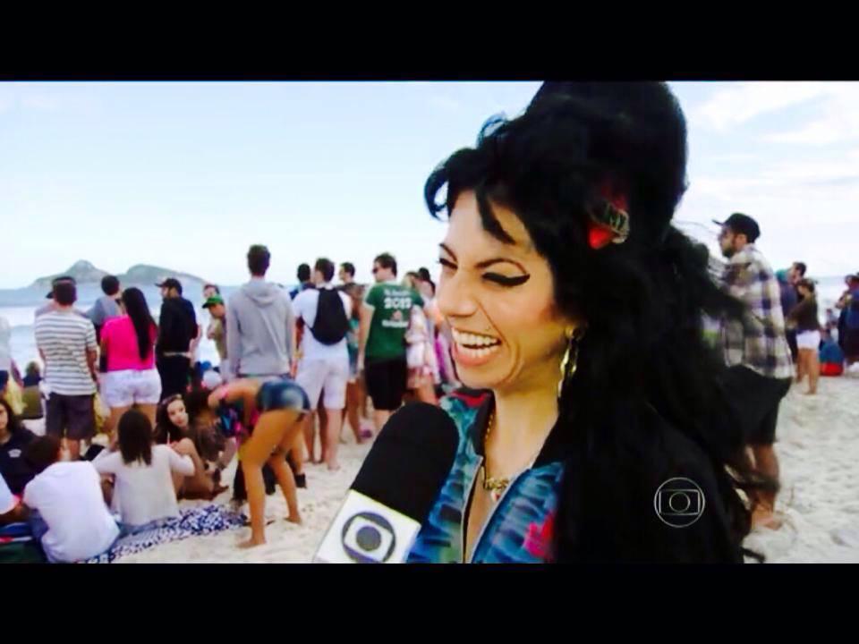 Sósia Amy Winehouse - Rede Globo - RJTV
