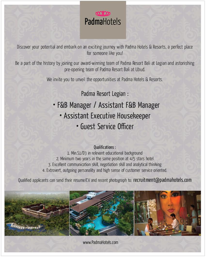 Padma Hotels Resorts Bali Karirhoteliercom Hhrma Voucher Resort Four Seasons At Sayan Hospitality Job Overseas Cruise Line Portal In Indonesia