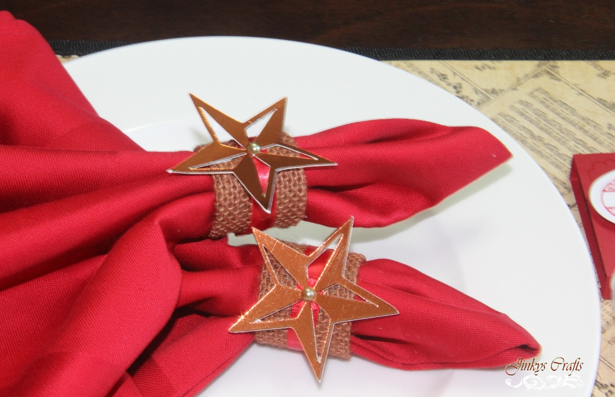Jinky 39 S Crafts Designs Holiday Burlap Napkin Ring Tutorial
