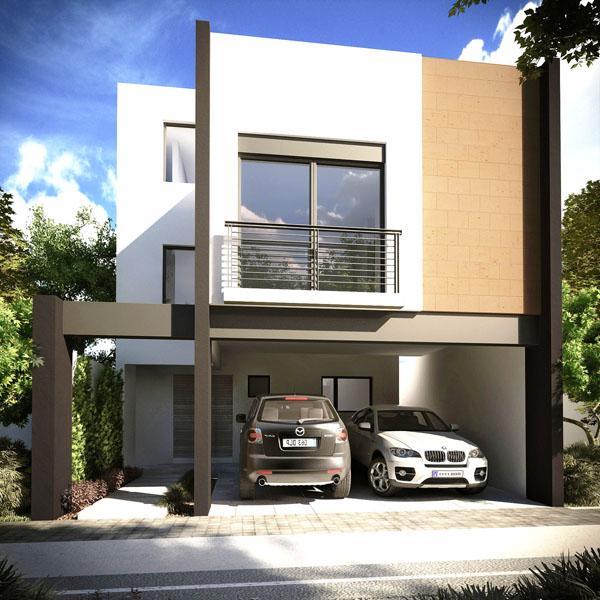Fachadas contempor neas fachada contempor nea tipo e en for Estilos de casas contemporaneas