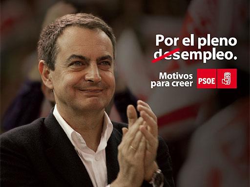 Cartel del PSOE