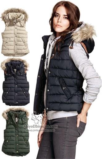 2014 Yeni Moda Bayan Kışlık Mont Modelleri