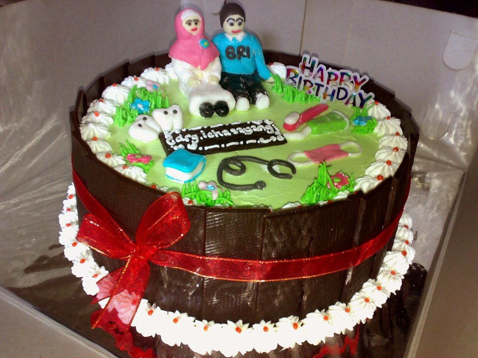 cake gambar dokter gigi