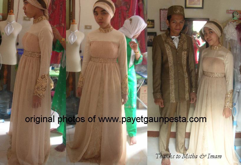 Payet Gaun Pesta Setelan Brokat Dan Jas Pengantin Muslim Modern