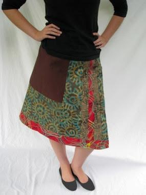 wrap skirt -  stripes 2