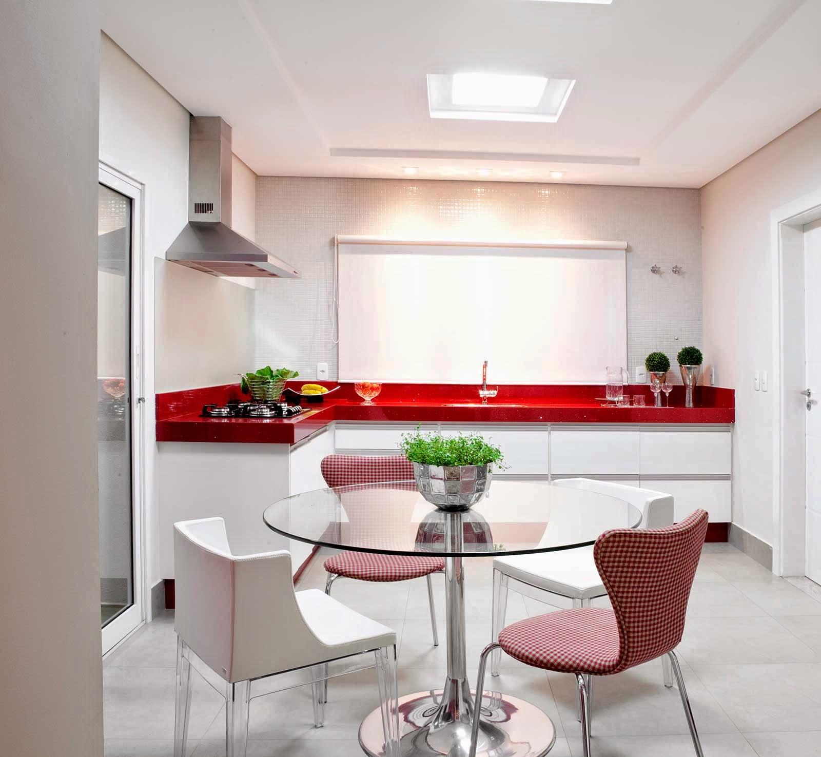 15 Cozinhas vermelhas modernas veja modelos maravilhosos mais dicas  #BA1114 1600 1475
