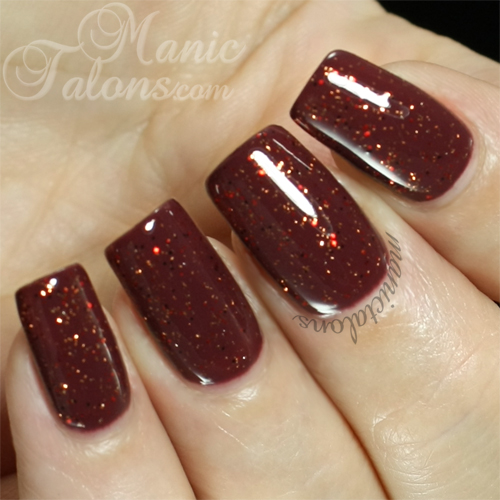IBD Just Gel Polish Banjos Make Her Dance over Petal Imprint Swatch