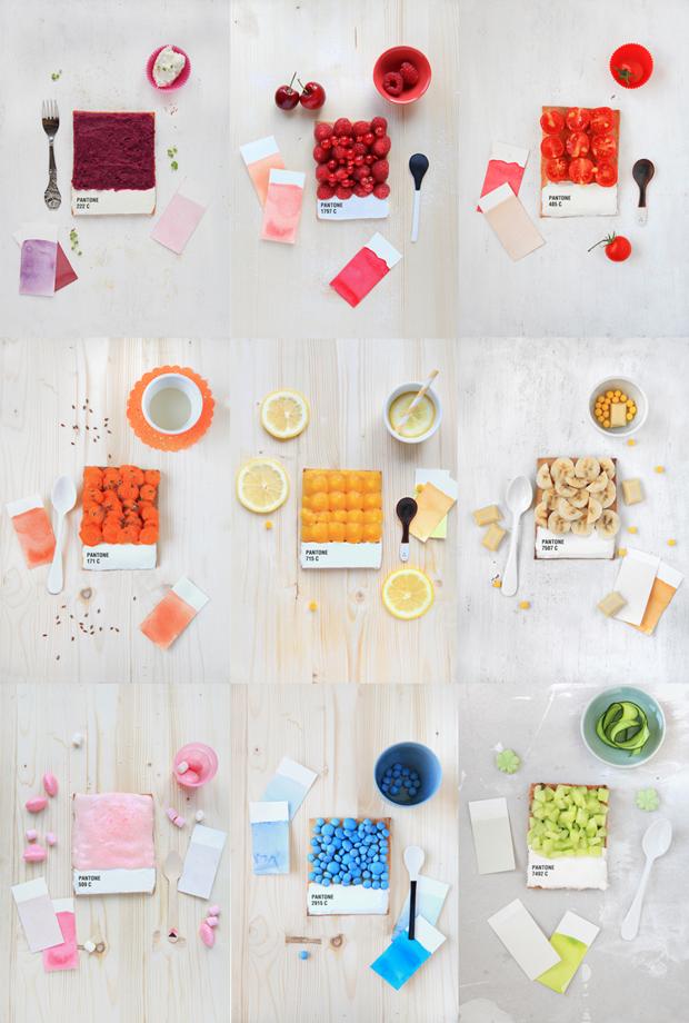 tartas de los colores pantone. Griottes