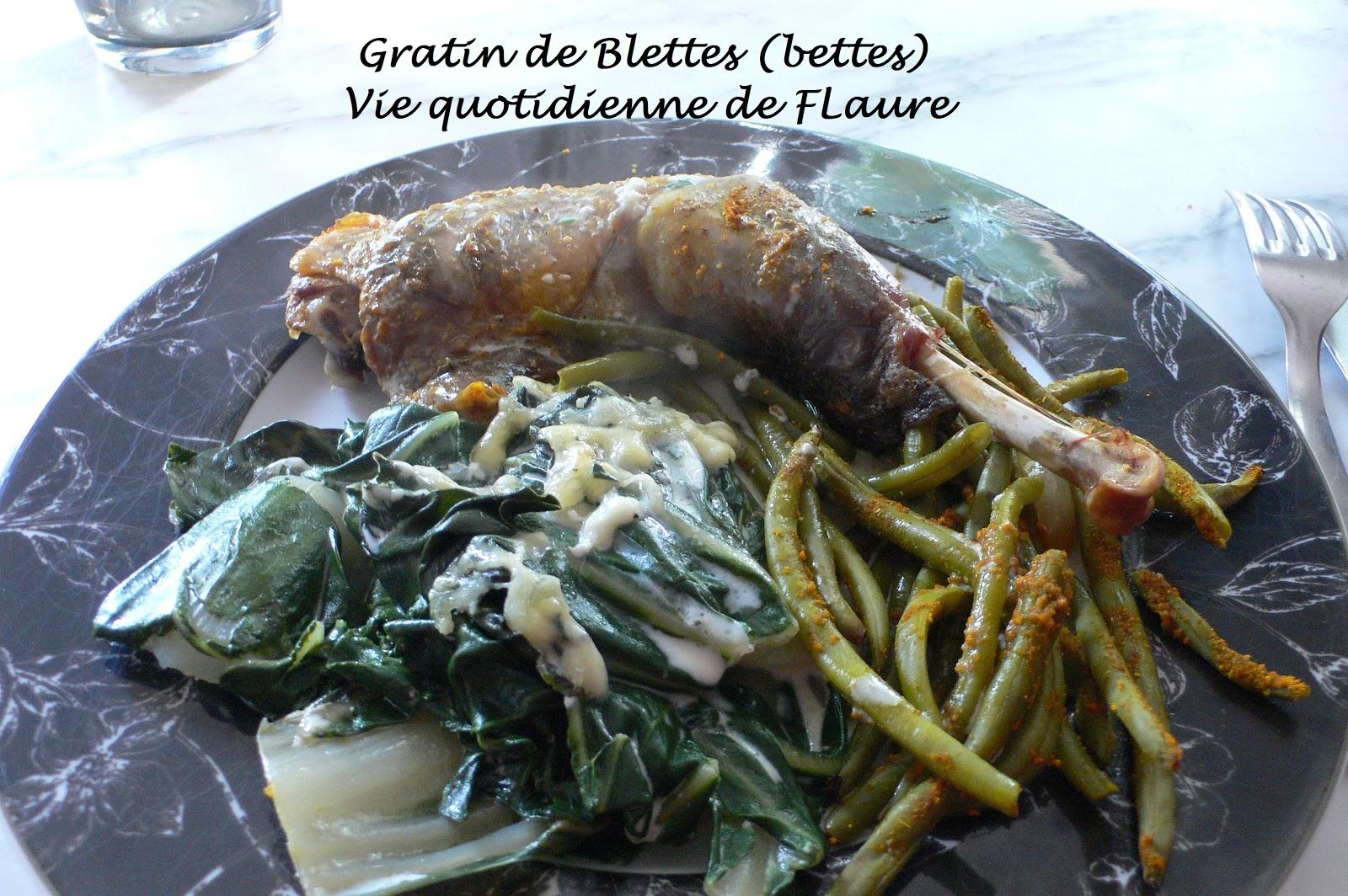 Gratin de blettes bettes - Comment cuisiner les feuilles de blettes ...