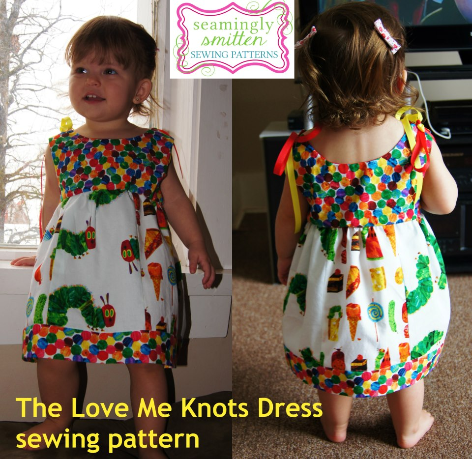 Seamingly smitten the love me knots dress sewing pattern look at this adorable hungry caterpillar dress a pattern tester made so cute and easy to throw on and still look boutique chic jeuxipadfo Image collections