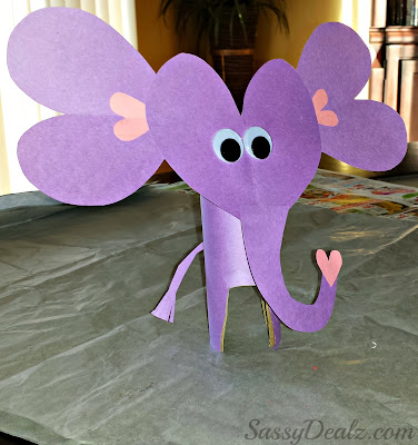 elephant toilet paper roll craft