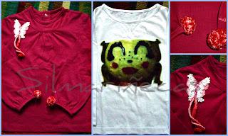 camiseta con logo y camiseta con mariposa y pompom