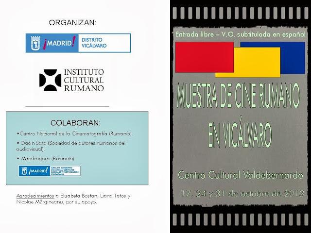 Muestra cine rumano Vicálvaro, octubre 2013