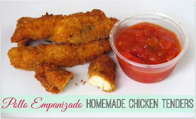 receta facil pollo empanizado homemade chicken tenders