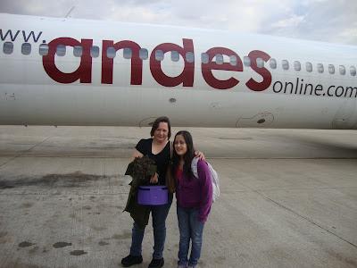 Chegando a Bariloche em avião da Andes